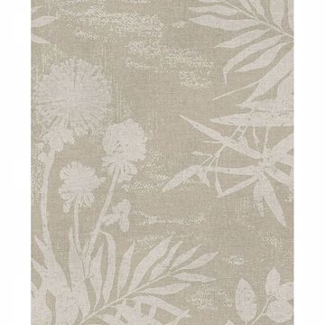 Picture of Hedda Taupe Botanical Wallpaper