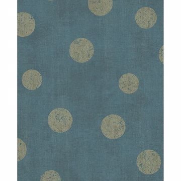Picture of Caro Teal Polka Dots Wallpaper