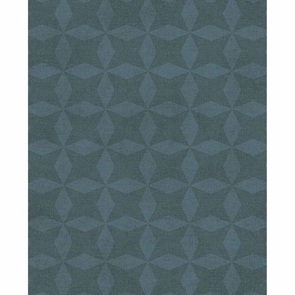 Picture of Frey Teal Geometric Wallpaper
