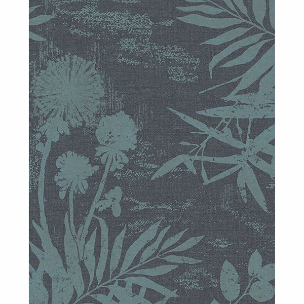 Picture of Hedda Turquoise Botanical Wallpaper