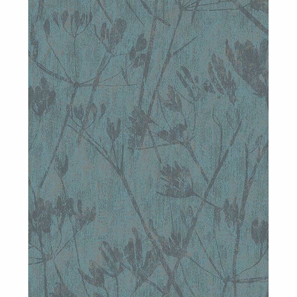 Picture of Jens Turquoise Branches Wallpaper