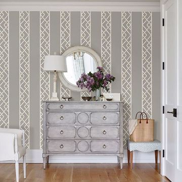 Picture of Latticework Citrine Wallpaper by Sarah Richardson