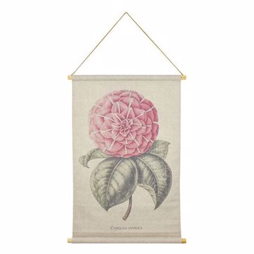 Picture of Camellia Hanging Linen Tapestry