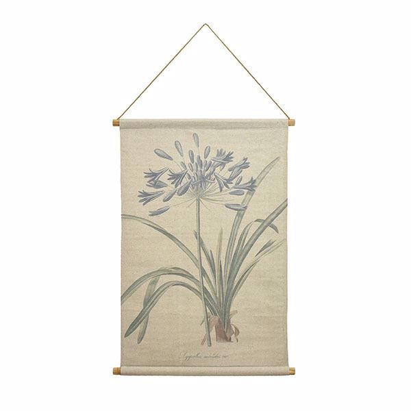 Picture of Agapanthus Hanging Linen Tapestry