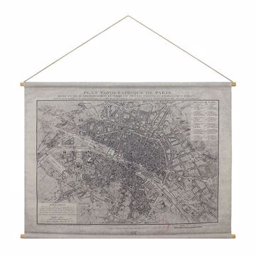 Picture of Paris Map Hanging Linen Tapestry