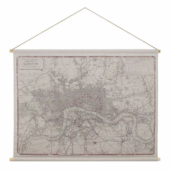 Picture of London Map Hanging Linen Tapestry