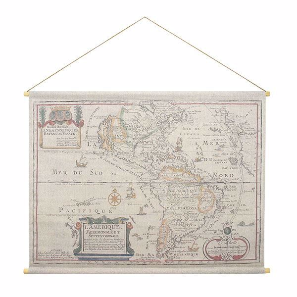 Picture of L'Amerique Hanging Linen Tapestry