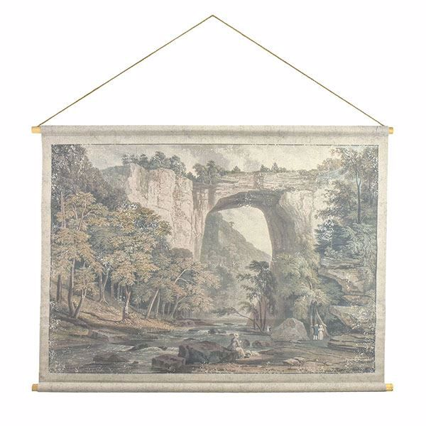 Picture of Natural Bridge Hanging Linen Tapestry