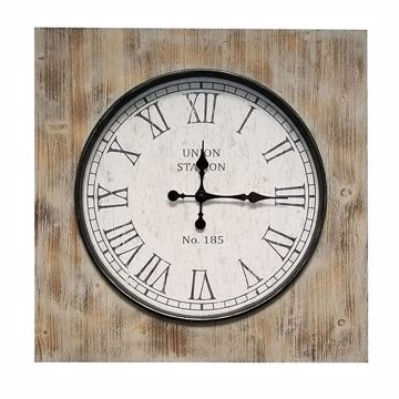 Picture of Milion Square Wood Clock