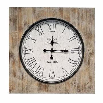 Picture of Milion Square Wood Clock