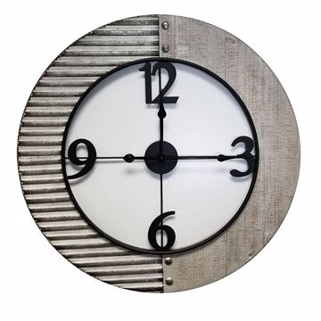 Picture of Willie Metal and Wood Clock