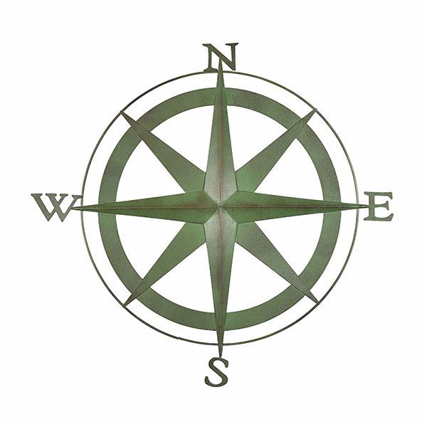 Picture of Boreas Verdigris Compass Wall Decor