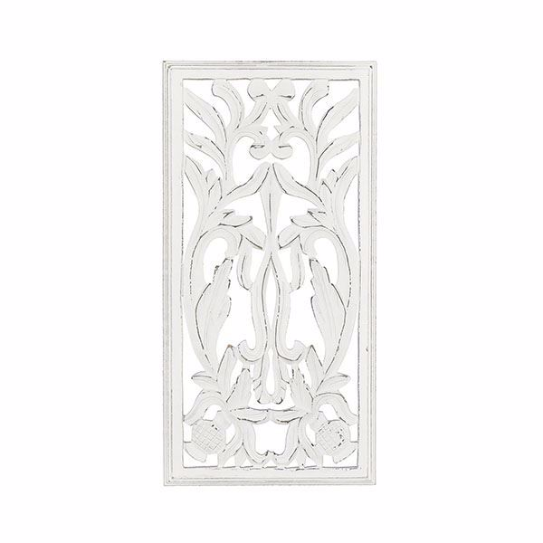 Picture of Shena White Hand Carved Panel Medallion