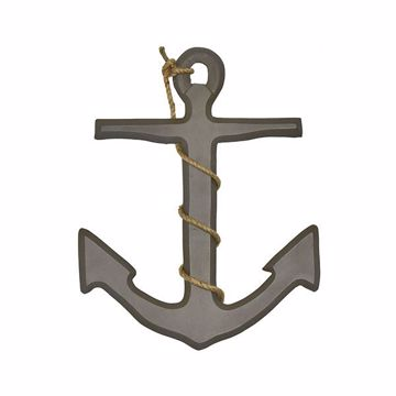 Picture of Ahoy Anchor Grey Wall Decor
