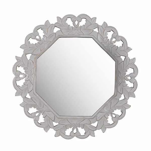Picture of  Tull Grey Carved Mirror