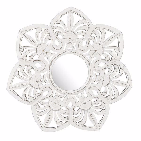 Picture of Edson White Carved Mirror