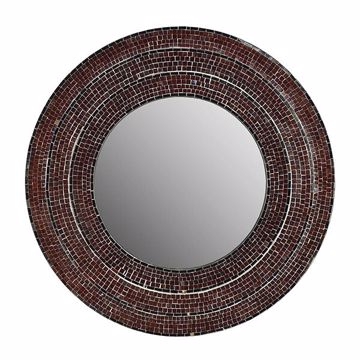 Picture of Sahlu Burgundy Mosaic Mirror