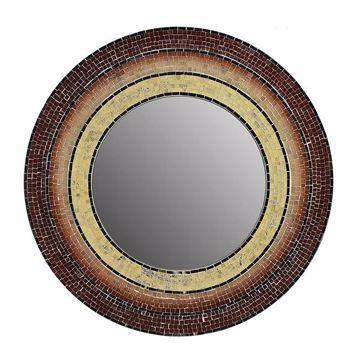 Picture of Sahlu Orange Mosaic Mirror