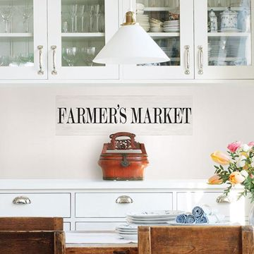 Picture of Farmers Market Wall Quote Decals