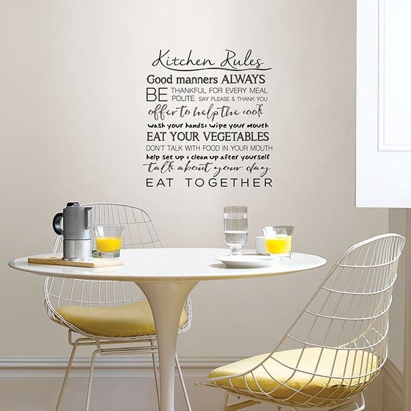 Picture of Kitchen Rules Wall Quote Decals