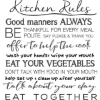 Kitchen Rules Wall Quote Decals