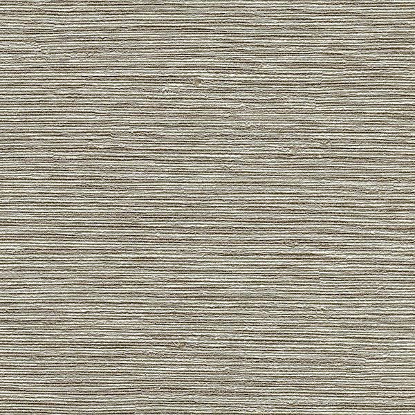 Picture of Mabe Taupe Faux Grasscloth Wallpaper