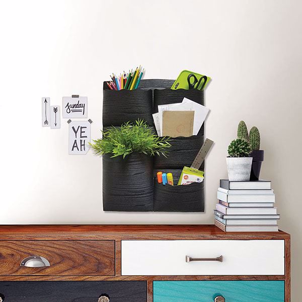 Picture of Black 5 Pocket Wall Organizer