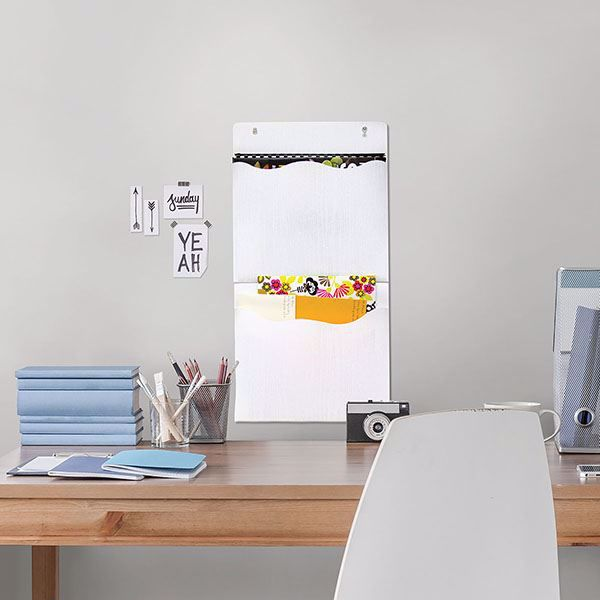Picture of White 2 Pocket Wall Organizer