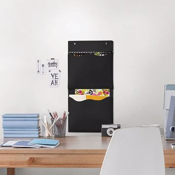 Picture of Black 2 Pocket Wall Organizer