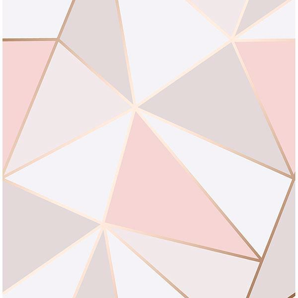 Picture of Arken Rose Gold Geometric Wallpaper