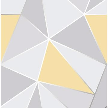 Picture of Arken Yellow Geometric Wallpaper