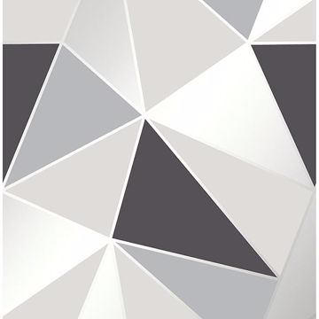 Picture of Arken Black Geometric Wallpaper
