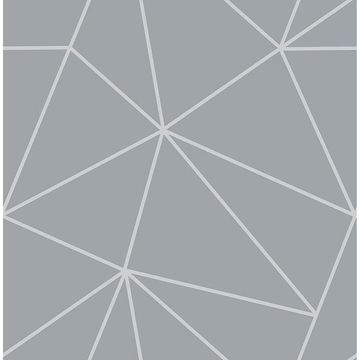 Picture of Arken Silver Geometric Wallpaper