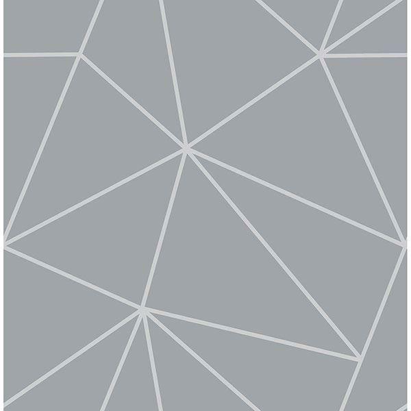 Picture of Arken Silver Geometric Wallpaper