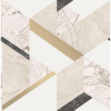 Picture of Elvira Cream Marble Geometric Wallpaper