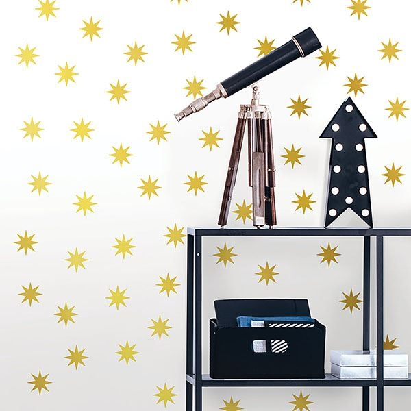 Picture of Metallic Gold Stars Wall Art Kit