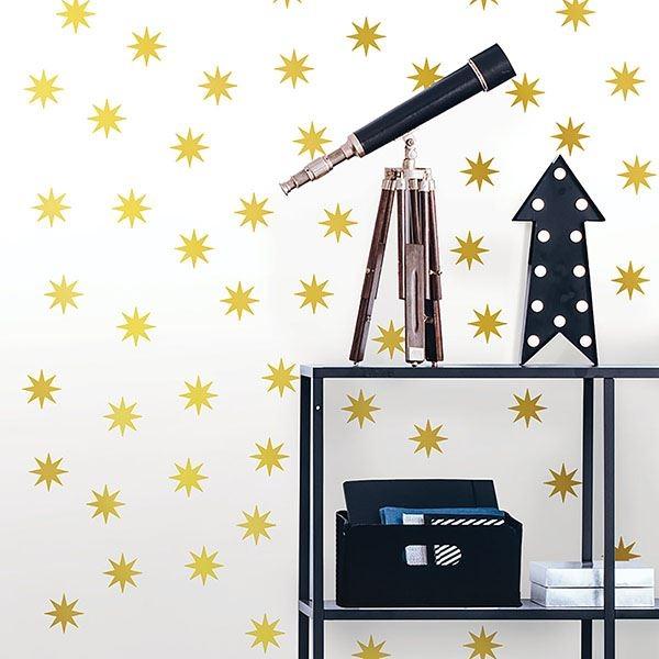 Picture of Metallic Gold Stars Wall Art Kit