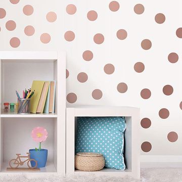 Picture of Metallic Rose Gold Dots Wall Art Kit