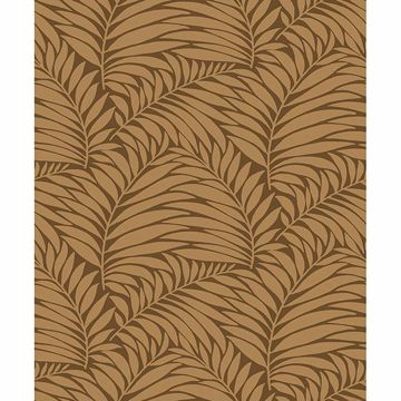 Picture of Myfair Brown Leaf Wallpaper