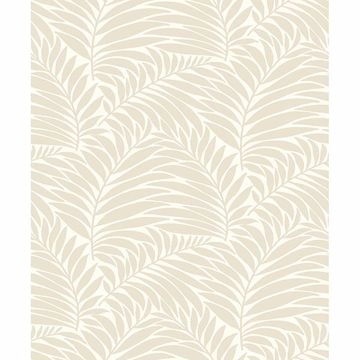 Picture of Myfair Cream Leaf Wallpaper