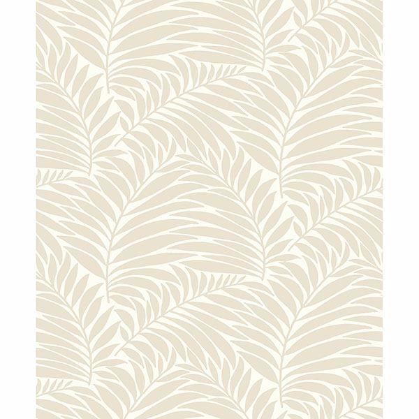 Picture of Myfair Cream Leaf Wallpaper