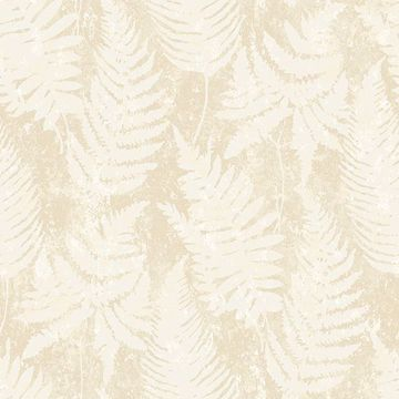 Picture of Whistler Cream Leaf Wallpaper