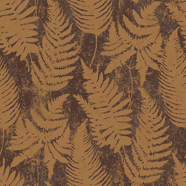 Picture of Whistler Brown Leaf Wallpaper