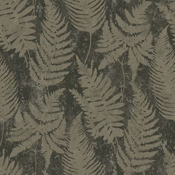 Picture of Whistler Moss Leaf Wallpaper