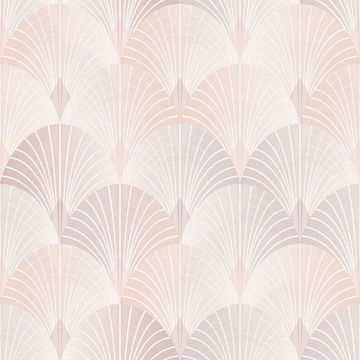 Picture of Pigalle Light Pink Fan Wallpaper