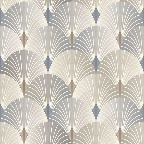 Picture of Pigalle Multicolor Fan Wallpaper