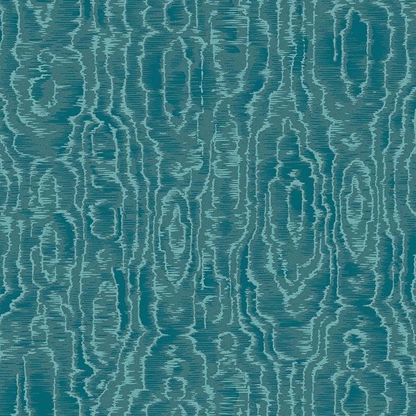 Picture of Salento Teal Abstract Wallpaper