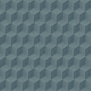 Picture of Claremont Blue Geometric Wallpaper