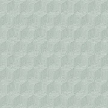 Picture of Claremont Seafoam Geometric Wallpaper