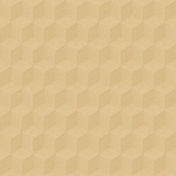 Picture of Claremont Wheat Geometric Wallpaper